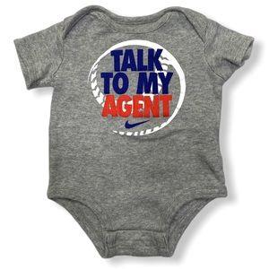 Nike | Baby Boy Short Sleeve Baseball Bodysuit